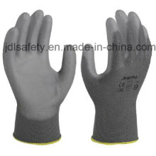 Gray Nylon Work Glove with PU Coated (PN8118)