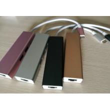 Rose USB3.1 Type-C Hub pour MacBook