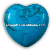Puffy Heart shaped Turquoise stone 35MM
