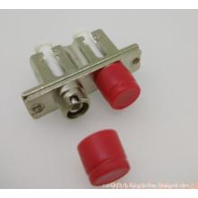 LC-FC Дуплексный металлический волоконный оптический адаптер Hybrit