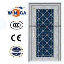 Silber Farbe Edelstahl Sunproof Metall Sicherheitstür (W-GH-26)