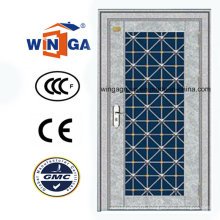 Silver Color Stainless Steel Sunproof Metal Security Door (W-GH-26)