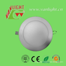 12W SMD2835 Cool White LED Round Panel Light