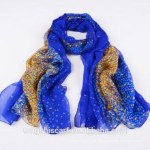 2016 neueste Dame gedruckt Seide Chiffon lange Schal Schal