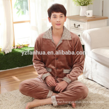 Winter Warm Coral Fleece Men's suit China Supplier