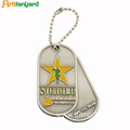 Silver Dog Tags With Customized Logo