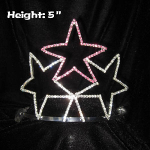 5in Height Crystal Star Shaped Pageant Crowns