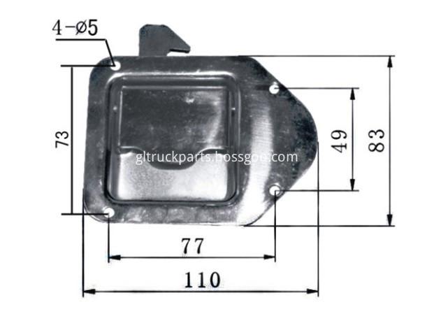 camper or trailer door handles GL-12111C