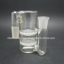 Factory Wholesale Glass Accessories Glass Ash Catcher with 2 Layer Honeycomb Perc