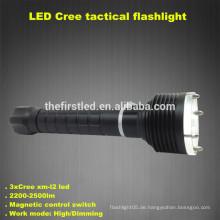 3T6 CREE XM-L2 LED-Lampe Selbstverteidigung Taktische Tauch-Taschenlampen