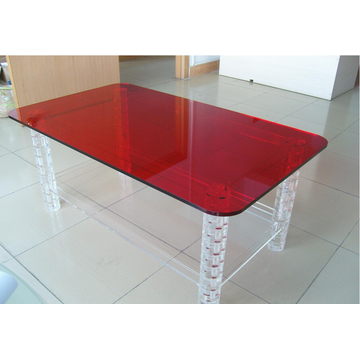 Lucite Dinning Table Red