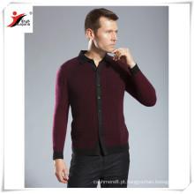 2016 moda masculina cashmere tricô polo