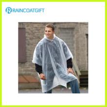 Unisex transparente PE capa de lluvia desechable