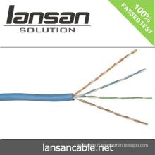 Lansan lan cable utp cat5e lan cable 4 paires 24awg BC cable 305m meilleur prix lan cable bonne qualité