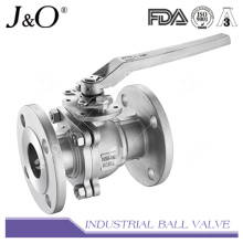2PC Flanged End Ball Valve with Mounting Pad JIS10k