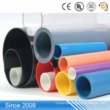 20mm colorful PVC hard pipes large diameter plastic drain pipe