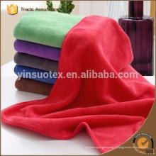 Toalla de microfibra de color rojo, toalla de deporte de microfibra, toalla de playa de microfibra