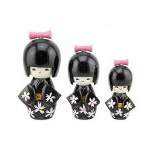 Modelo brinquedos baby doll eco pintura ecológica kokeshi