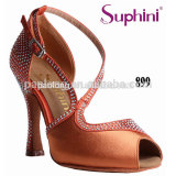 Latest Orange Rhinestone Design Suphini Latin Dance Shoes