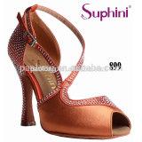 Latest Orange Rhinestone Design Suphini Latin Dance Shoes
