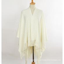 Lady fashion acrílico mohair malha inverno franja xaile (yky4510)