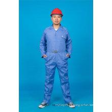 Ropa de trabajo de ropa de trabajo de algodón de manga larga 65% poliéster 35% de seguridad (BLY1023)