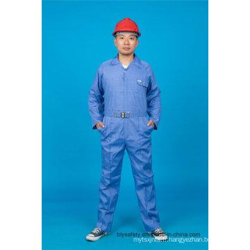 Sécurité à manches longues 65% Polyester 35% coton uniforme de travail de combinaison (BLY1023)