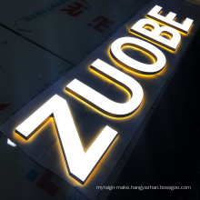 Advertising Acrylic Outdoor 3D Front Sign Led Letters For Store Business Restaurant