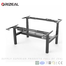 Fábrica al por mayor de altura ajustable moderno escritorio de oficina dos personas sentarse escritorio de soporte