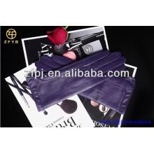 Guantes de cuero para mujer, guantes de cuero italianos