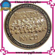 Besetzte Militärmünze mit 3D Logo Gravur