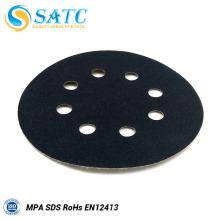 Discos de lixar abrasivos de gancho e laço SATC para polimento