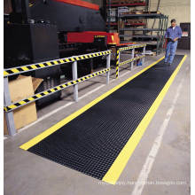 Whole Sale Industrial Standing Diamond Anti Fatigue PVC Foam Sheet/Floor with Yellow Edeges