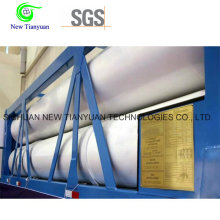 27.84m3 Capacité d'eau 12 Tubes CNG Container Semi-remorque