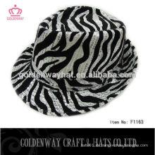 Heißes selliing preiswerte Leopard Fedora Hüte für Männer