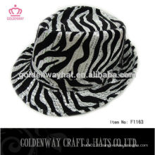 Hot Selliing Cheap Leopard Fedora Hats for Men