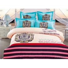 Tela de algodón impresa egipcia para niños Juego de cama reversible de edredón