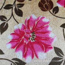 Flower Printed Polyester Velvet African Sofa Cover Fabric