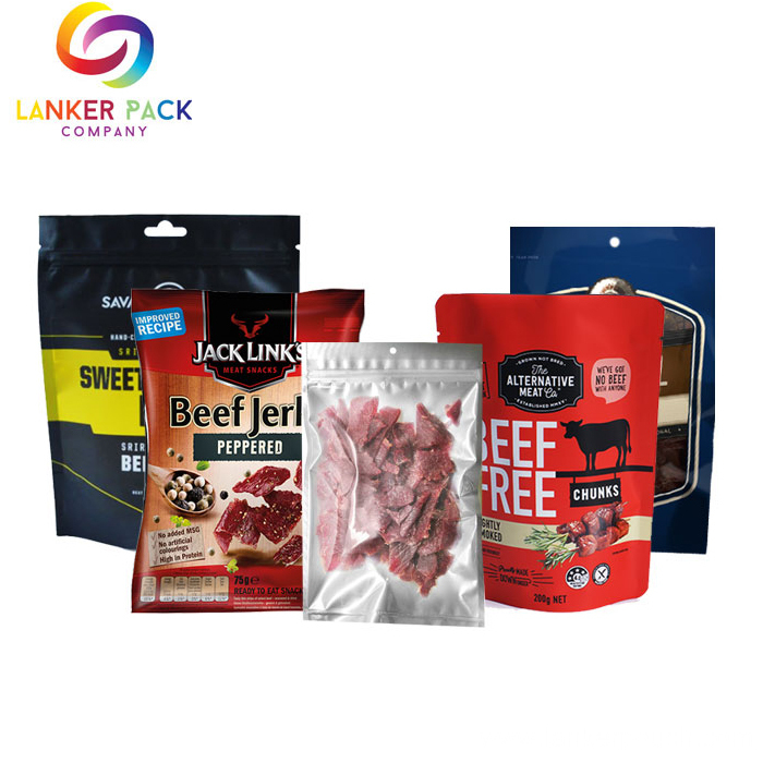Customize Moisture Proof Plastic Beef Jerky Packaging Bags