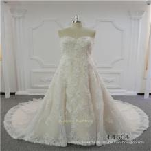 Ärmelloses Schatz-Spitze-spätestes Entwurfs-Hochzeits-Kleid