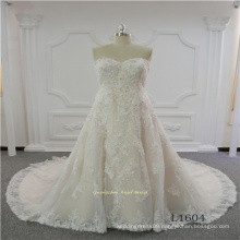 Sleeveless Sweetheart Lace Latest Design Wedding Dress