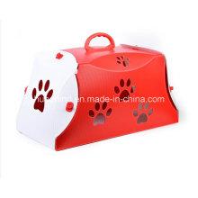 Bolso plegable del animal doméstico del diseño de la manera, portador del animal doméstico
