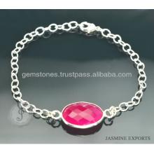 Quartz em jóia de prata banhado a prata disponível na venda por atacado de jóias artesanais
