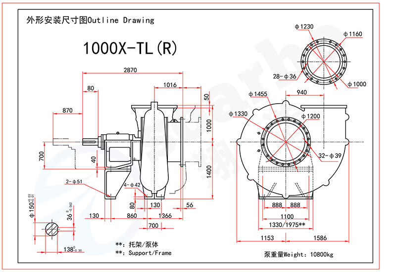 1000mm Size FGD Pump