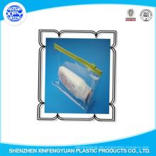 Bedrucktes PVC LDPE Zippock Taschen Slider Zip Lock Plastiktasche für Kleidung