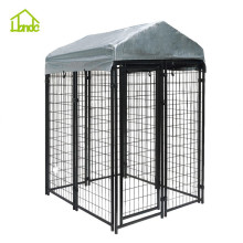 Sun-shading welded mesh dog cage