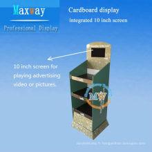 écran LCD intégré de 10 pouces du comptoir en carton