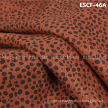 Print and Golden-Plating  Suede Fabric Escf-46A