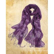 Модный льняной платок с вышивкой для весеннего сезона