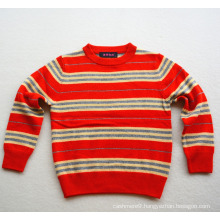 kids new design striped knitted cashmere pullover sweater